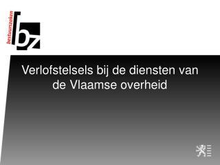 Verlofstelsels bij de diensten van de Vlaamse overheid