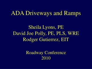 ADA: It's the Law!