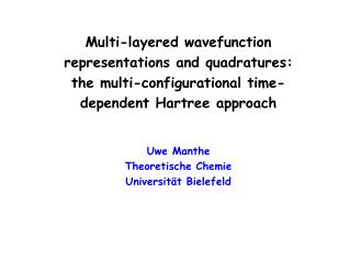 Multi-layered wavefunction representations and quadratures: