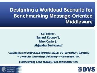 Designing a Workload Scenario for Benchmarking Message-Oriented Middleware