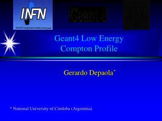 Geant4 Low Energy Compton Profile