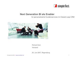 Next Generation BI als Enabler