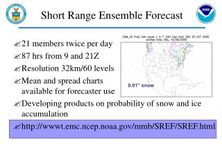 Short Range Ensemble Forecast