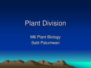 Plant Division