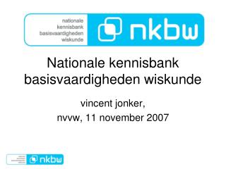 Nationale kennisbank basisvaardigheden wiskunde
