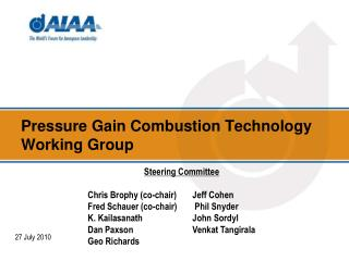 Pressure Gain Combustion Technology Working Group