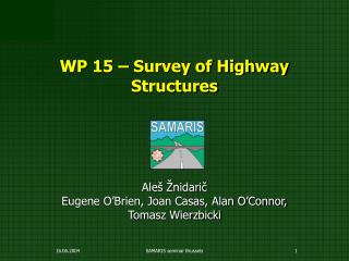 WP 15 – Survey of Highway Structures
