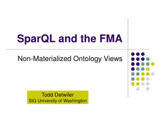 SparQL and the FMA