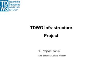 TDWG Infrastructure Project