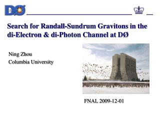 Search for Randall-Sundrum Gravitons in the di-Electron & di-Photon Channel at D Ø