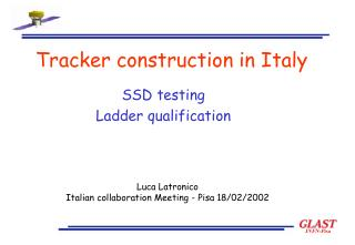 Tracker construction in Italy