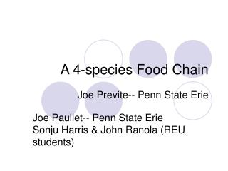 A 4-species Food Chain