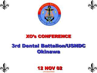 XO's CONFERENCE  3rd Dental Battalion/USNDC Okinawa
