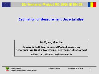 Wolfgang Garche Saxony-Anhalt Environmental Protection Agency