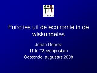 Functies uit de economie in de wiskundeles