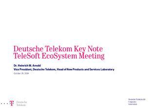 Deutsche Telekom AG Corporate Innovation