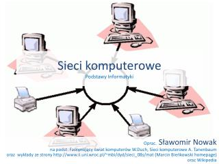 Sieci komputerowe Podstawy Informatyki