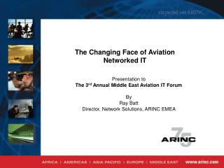 The Changing Face of Aviation Networked IT