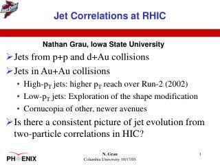 Jet Correlations at RHIC