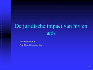 De juridische impact van hiv en aids