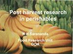 K.H.Sarananda  Food Research Unit DOA