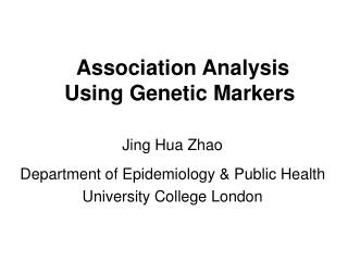 Association Analysis Using Genetic Markers