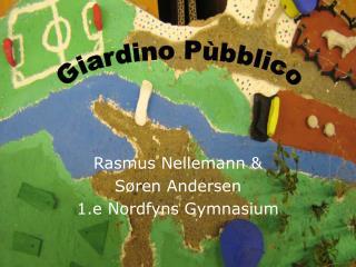 Rasmus Nellemann &  Søren Andersen 1.e Nordfyns Gymnasium