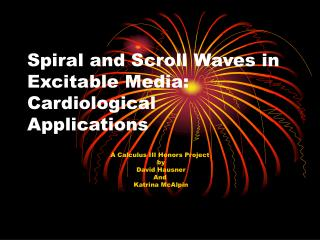 Spiral and Scroll Waves in Excitable Media: Cardiological  Applications