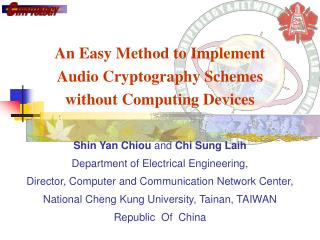An Easy Method to Implement  Audio Cryptography Schemes  without Computing Devices