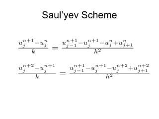 Saul'yev Scheme
