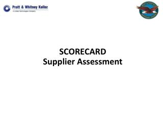 SCORECARD Supplier Assessment