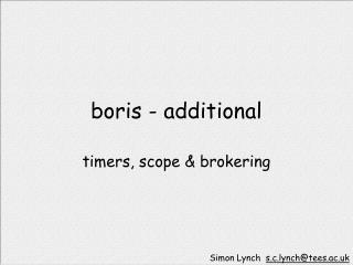 boris - additional