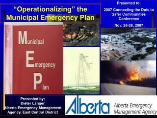 """Operationalizing"" the Municipal Emergency Plan"