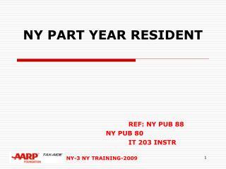 NY PART YEAR RESIDENT