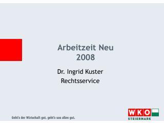 Arbeitzeit Neu  2008