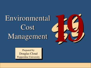 Environmental Cost Management