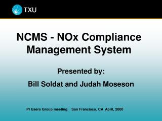 NCMS - NOx Compliance Management System