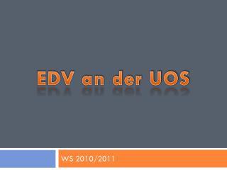 EDV an der UOS