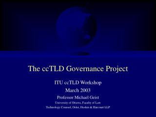 The ccTLD Governance Project