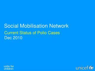 Current Status of Polio Cases Dec 2010