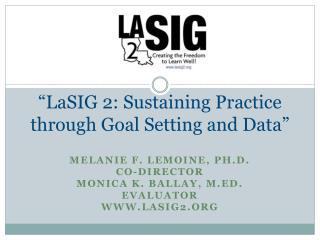 """LaSIG 2: Sustaining Practice through Goal Setting and Data"""