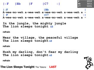 The Lion Sleeps Tonight  The Tokens LAST