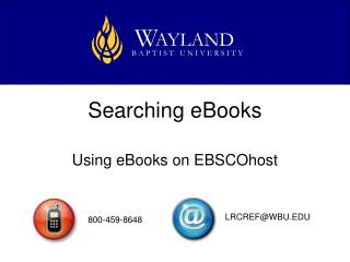 Searching eBooks