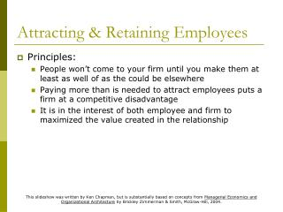 Attracting  Retaining Employees