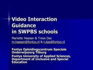 Video Interaction Guidance in SWPBS schools