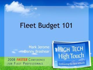 Fleet Budget 101