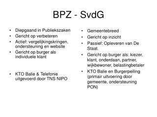 BPZ - SvdG