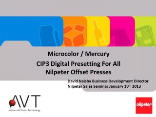 Microcolor / Mercury CIP3 Digital Presetting For All Nilpeter Offset Presses