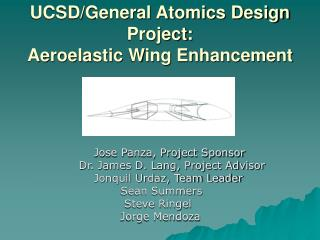 UCSD/General Atomics Design Project: Aeroelastic Wing Enhancement
