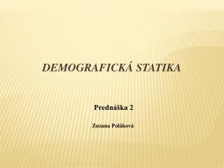 Demografická statika